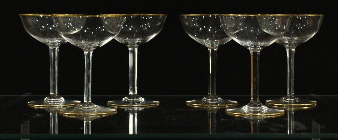 baccarat gold trim cocktail glasses
