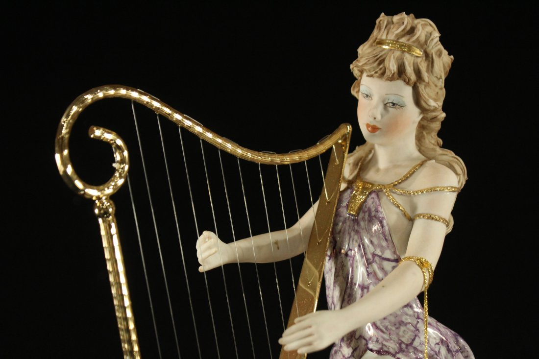 Vittorio Sabadin Porcelain Harp player - 2