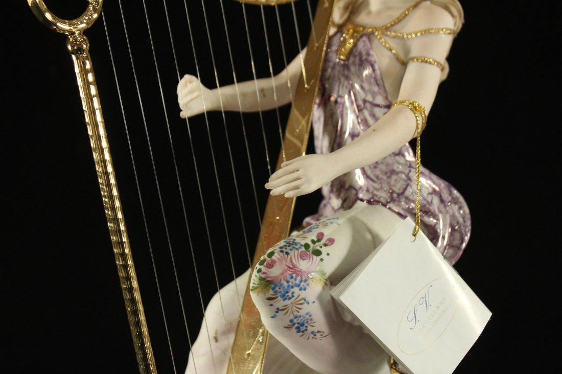 Vittorio Sabadin Porcelain Harp player - 3