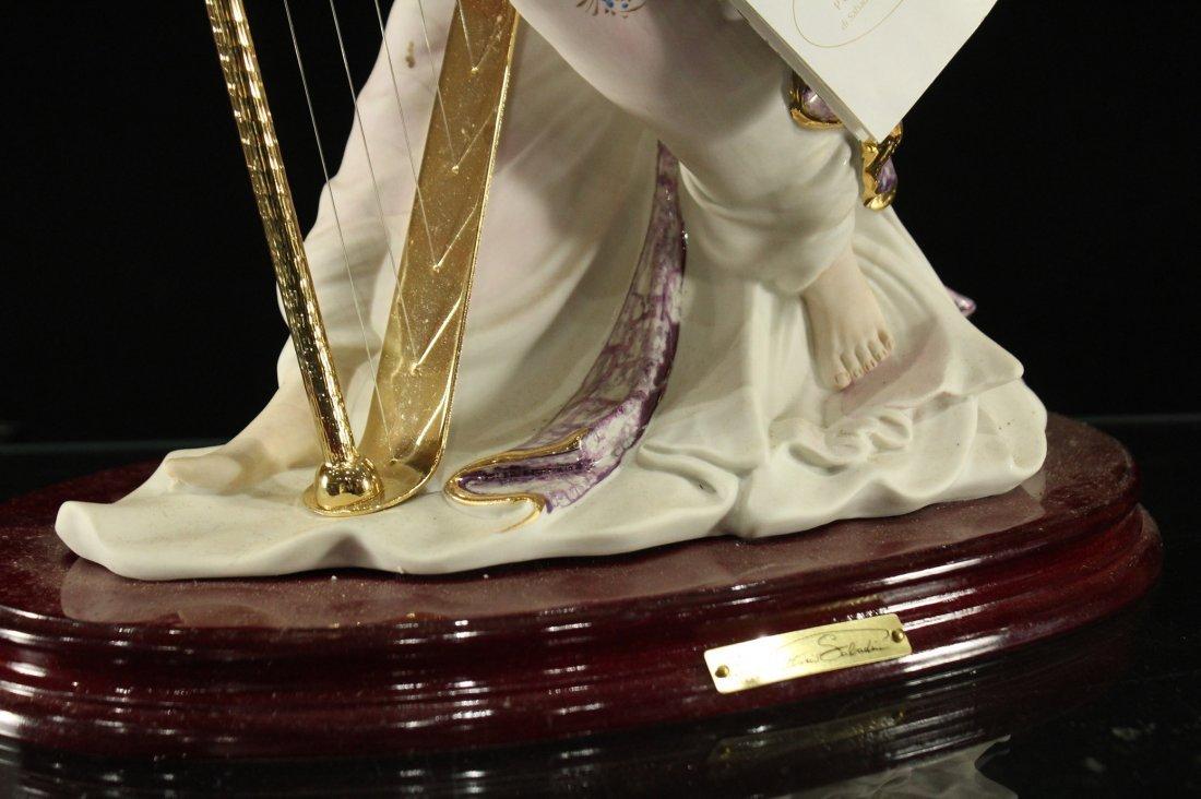 Vittorio Sabadin Porcelain Harp player - 4
