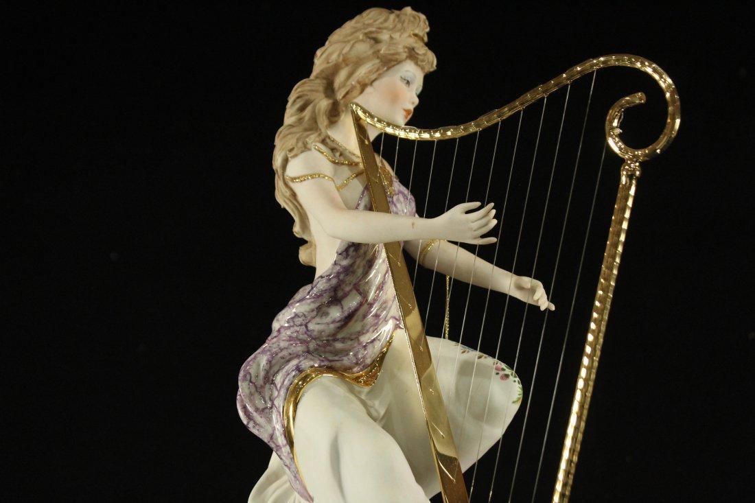 Vittorio Sabadin Porcelain Harp player - 6