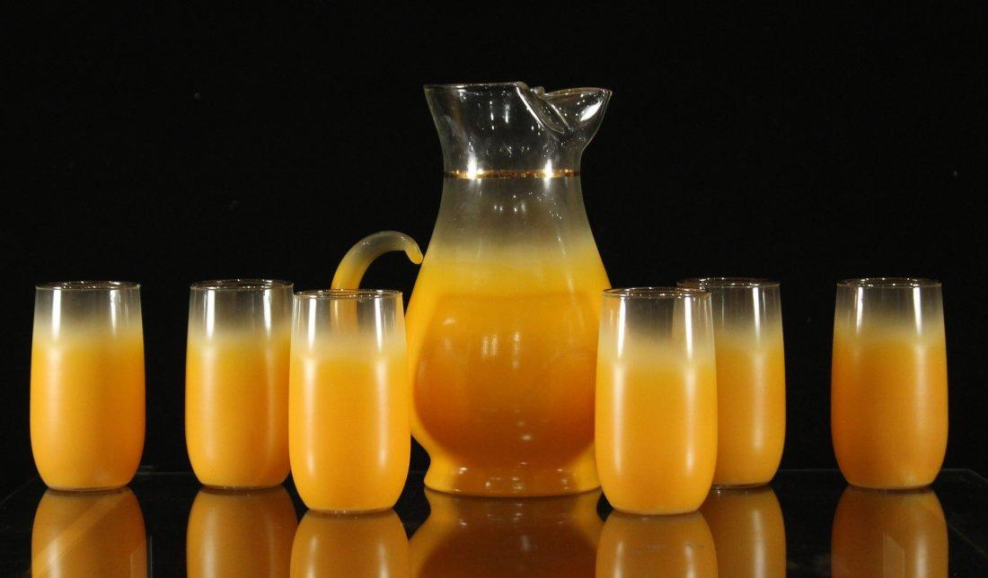 Mid-century modern orange fade lemonade set