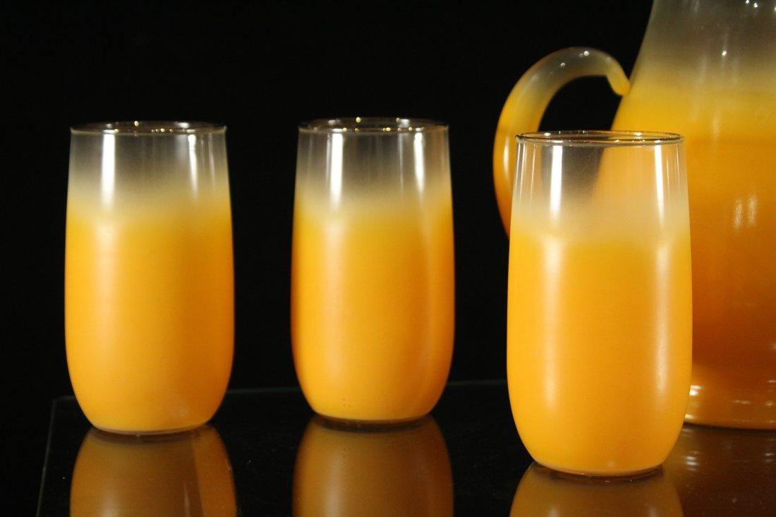 Mid-century modern orange fade lemonade set - 2