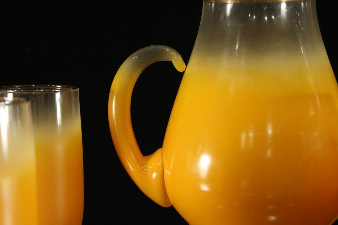 Mid-century modern orange fade lemonade set - 4