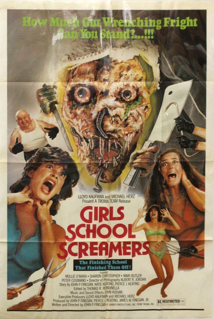 Girls School screamers Vintage Movie poster