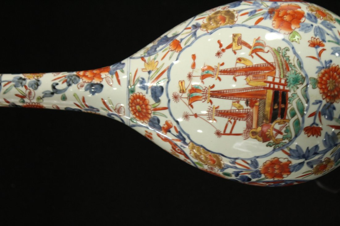 Porcelain oriental lamp with boat / ship - 5