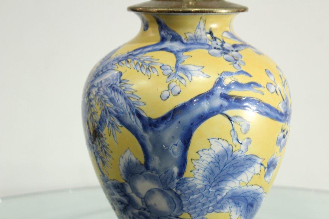 Oriental pottery lamp - 2