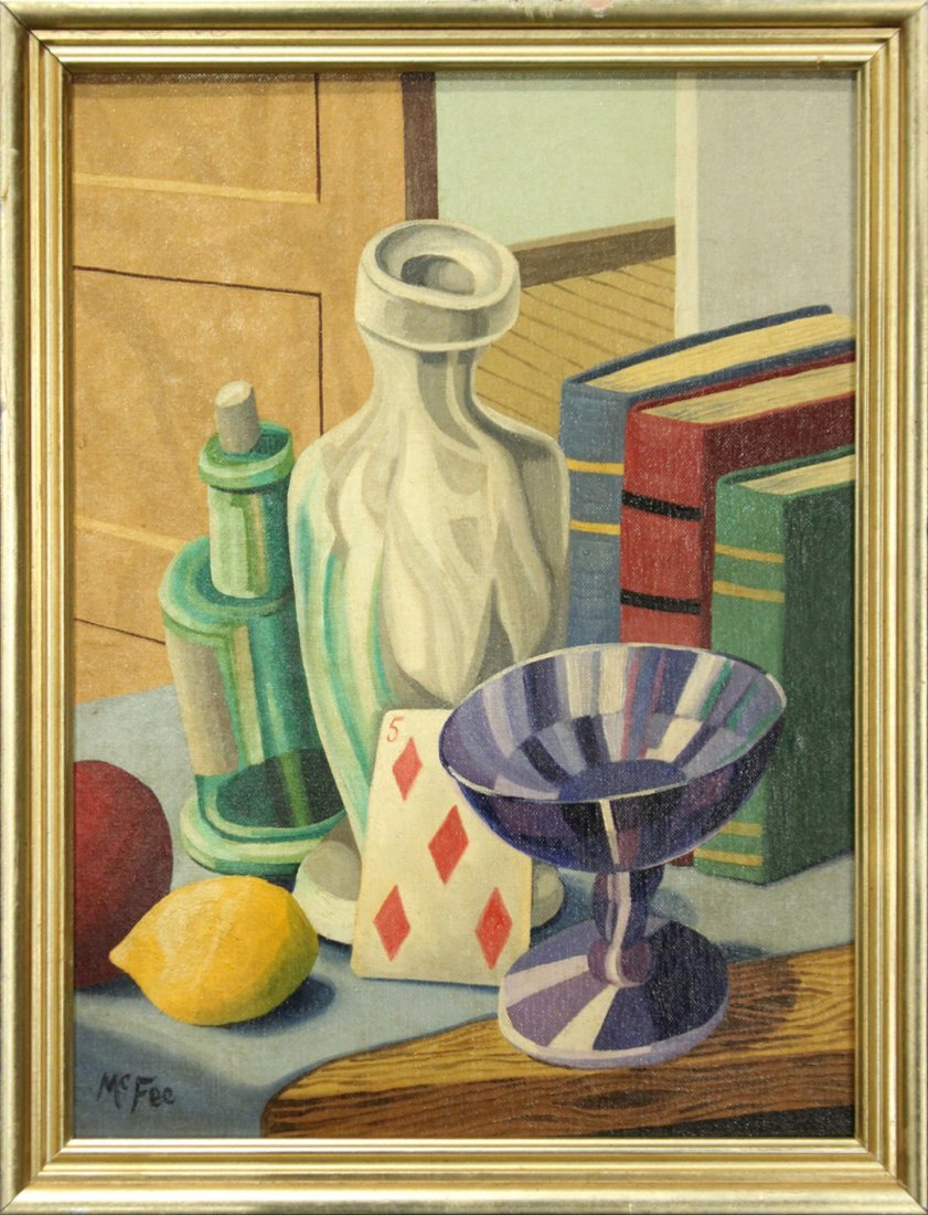 Henry McFee Oil on board still life painting