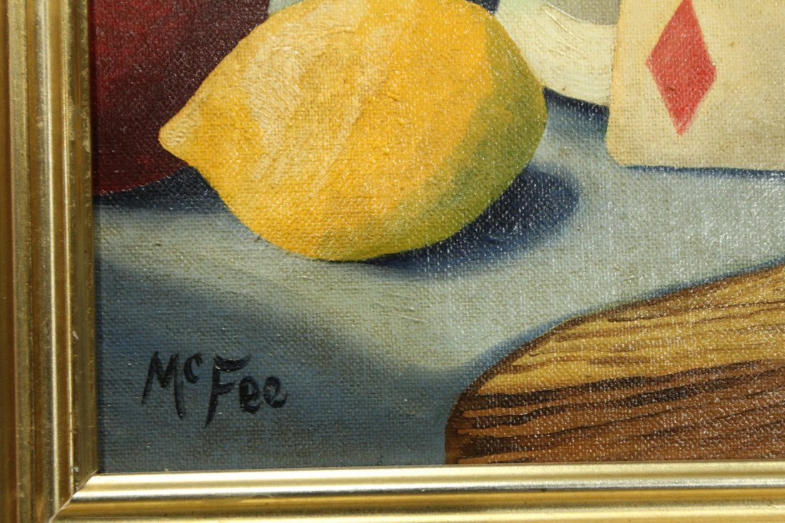Henry McFee Oil on board still life painting - 2