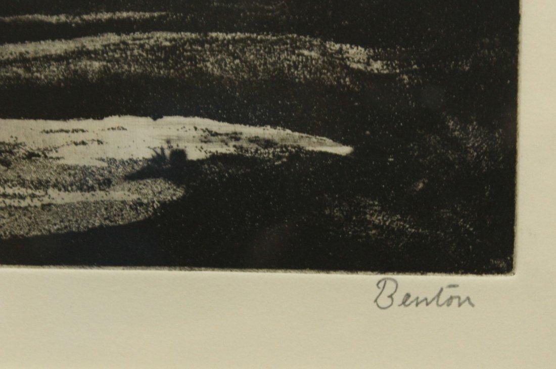 """Thomas Hart Benton Lithograph \""""The Race\"""" - 3"""