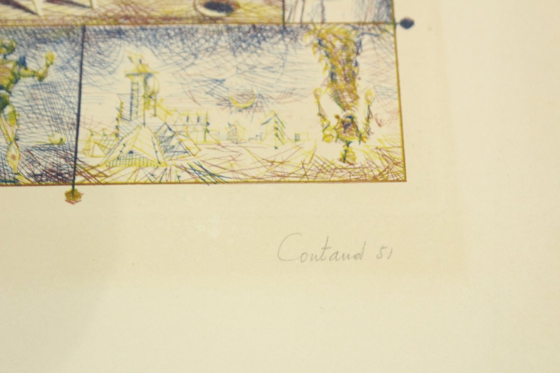 Cortland 1951 Surrealism Lithograph #176/200 - 7