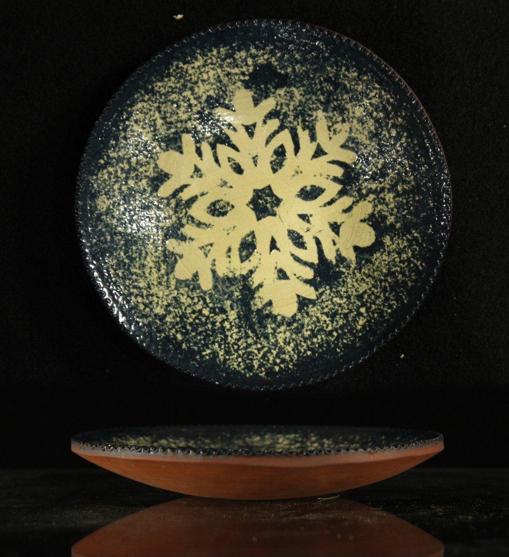 Foltz Pottery 1998 snowflake plate
