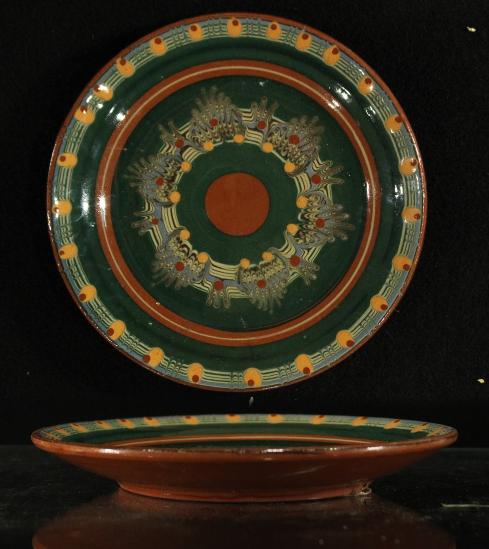 Pottery Plate with psychedelic pattern