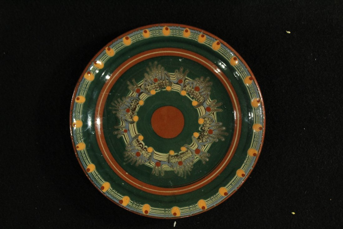 Pottery Plate with psychedelic pattern - 2