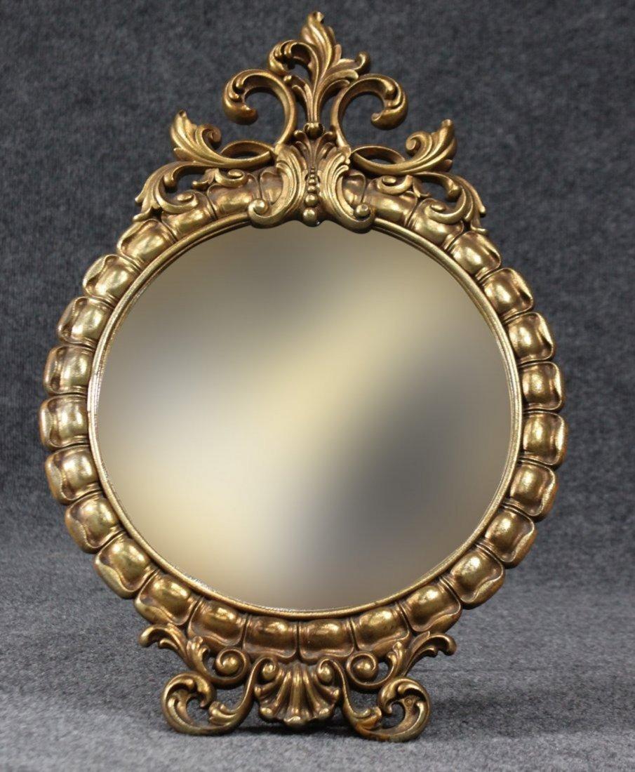 Large Syroco Dresser Top Make-Up Mirror Free Standing - 2