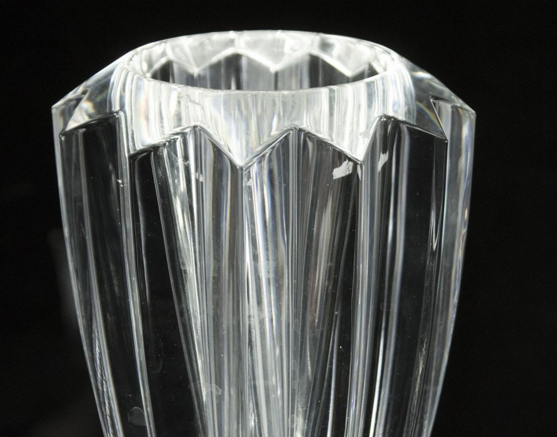 Two [2] Signed ORREFORS Crystal Glass Vases - 2