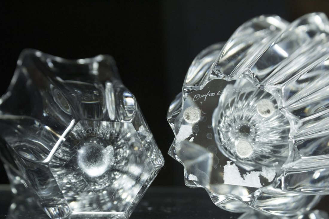 Two [2] Signed ORREFORS Crystal Glass Vases - 4
