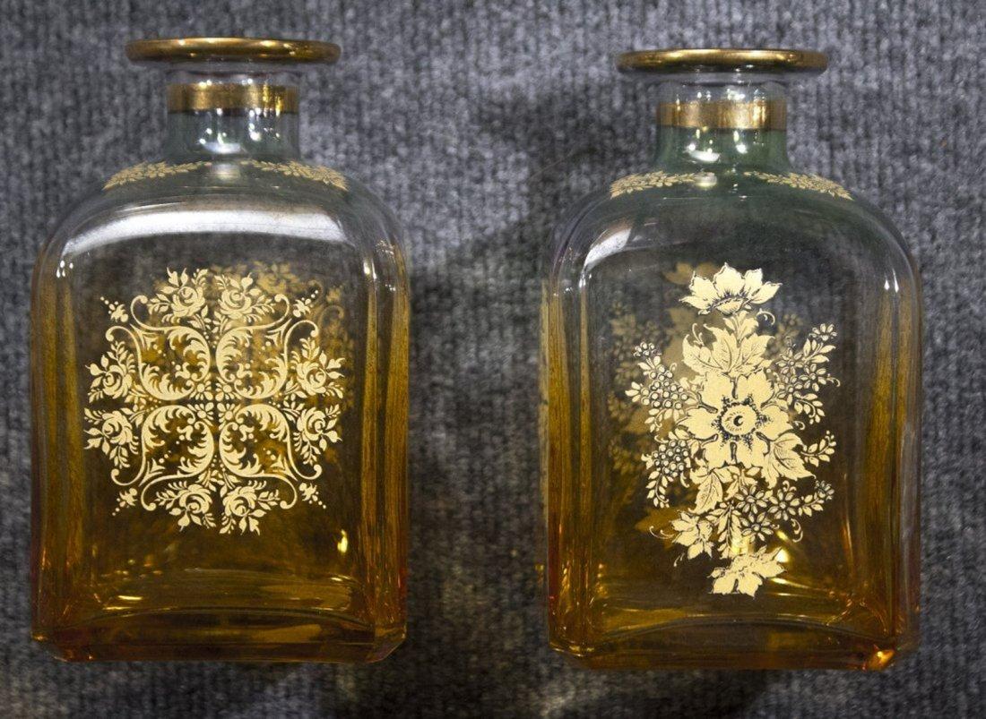 Set Four [4]  Italian Glass Bottles Decanters - 3