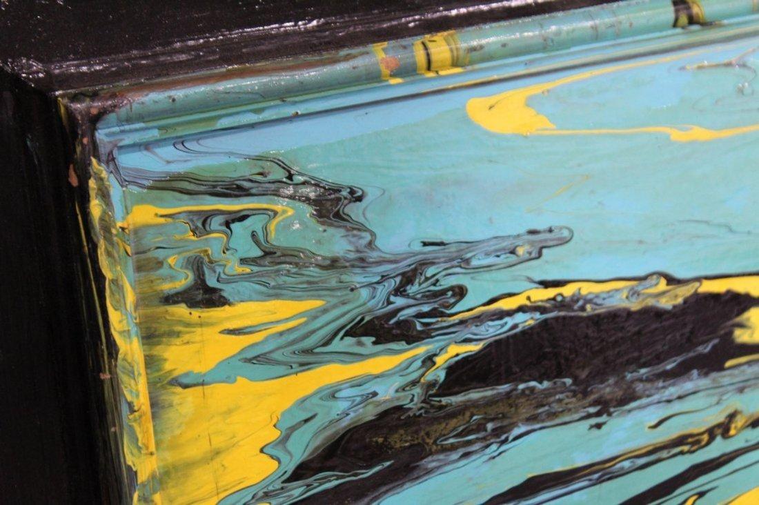MID-CENTURY MODERN ABSTRACT OIL ON BOARD - 2
