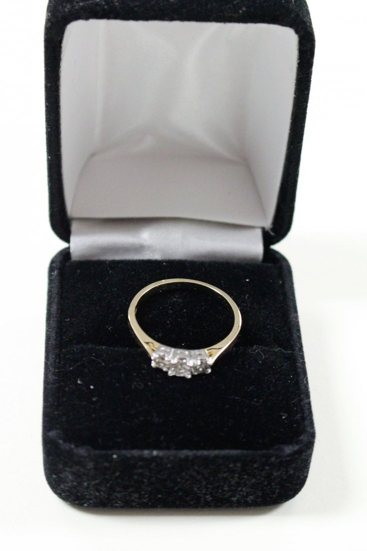 DIAMOND RING 14 K WHITE GOLD, PAST, PRESENT, FUTURE - 4