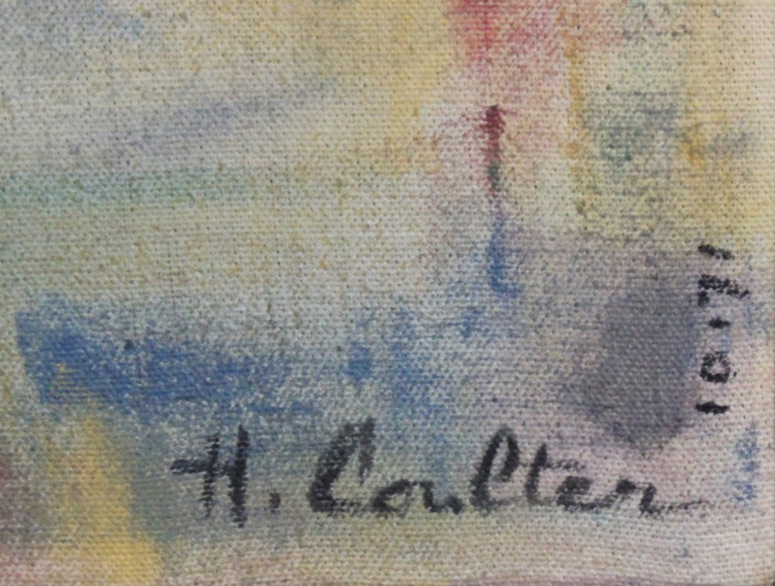 1971 H Coulten abstract painting mid-century modern - 2