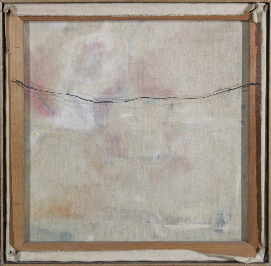 1971 H Coulten abstract painting mid-century modern - 3