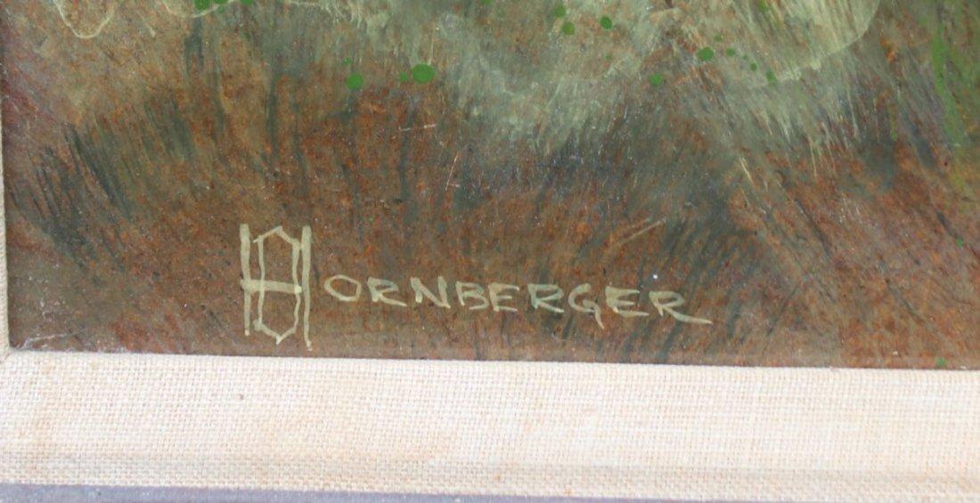 Don Hornberger 1921-2006 Painting Farm House Landscape - 2