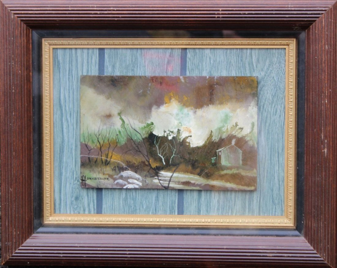 Don Hornberger 1921-2006 Painting Farm House Landscape
