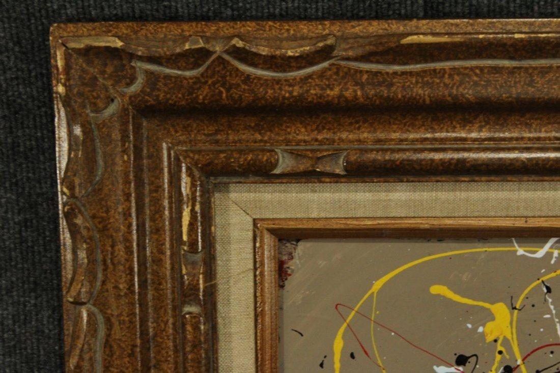 JACKSON POLLOCK STYLE Mid-Century Mod Drip Art Painting - 3