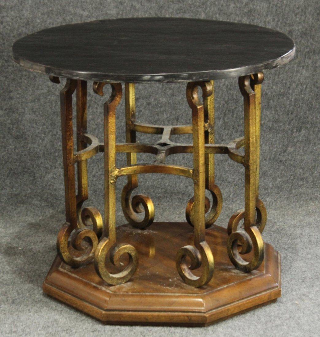Drexel Mid-century hollywood regency stone top table