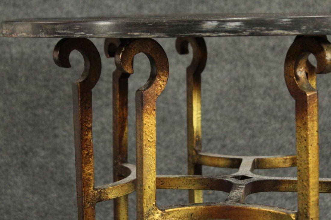 Drexel Mid-century hollywood regency stone top table - 2