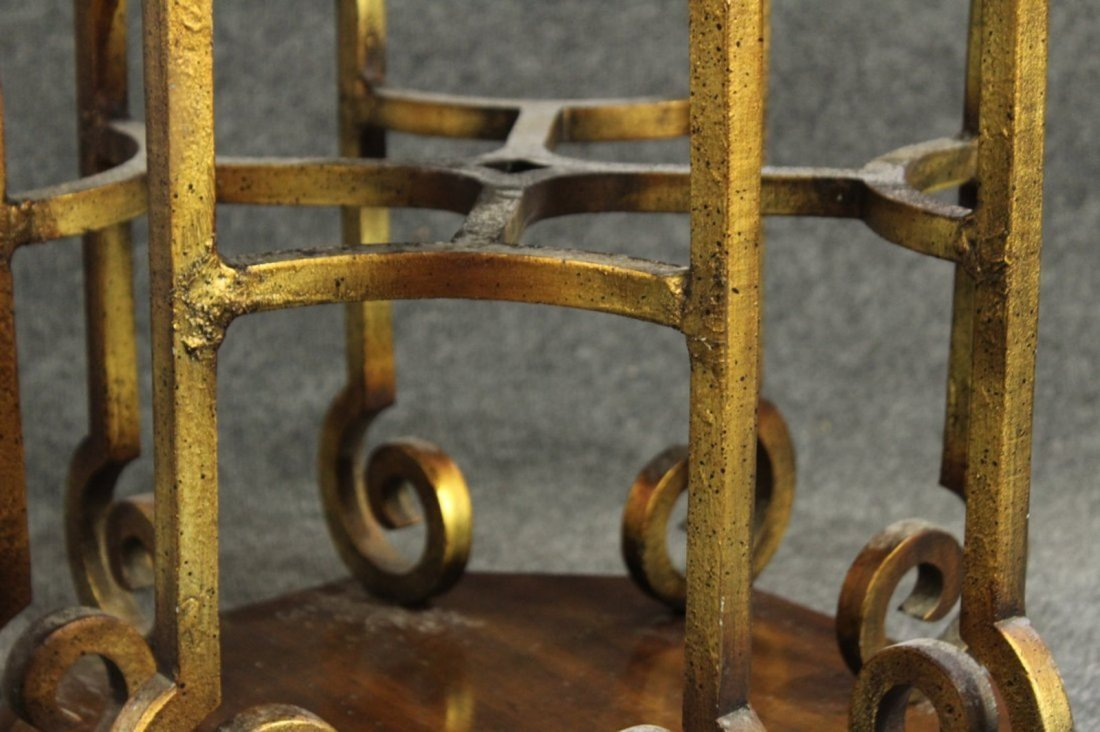 Drexel Mid-century hollywood regency stone top table - 3