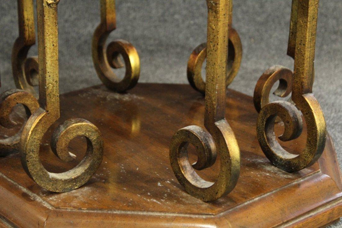 Drexel Mid-century hollywood regency stone top table - 4