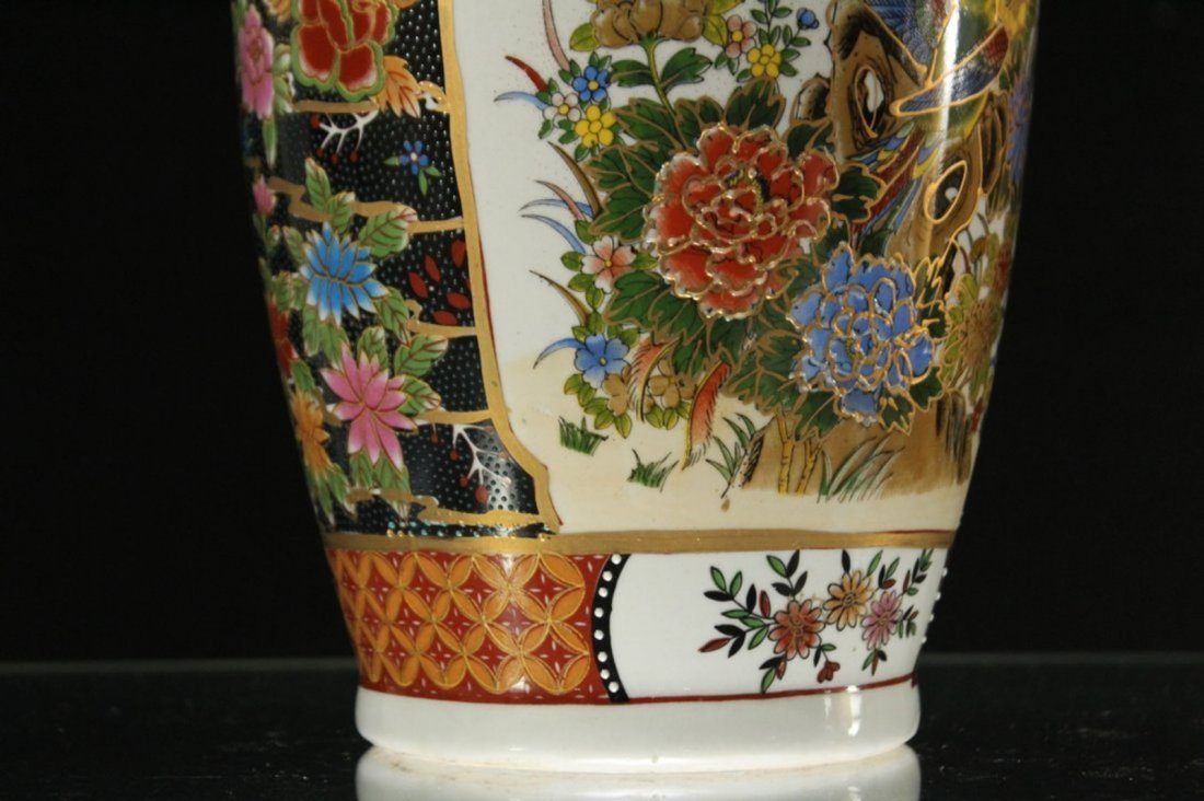 Chinese Porcelain Temple Vase with Scenic Panels - 2
