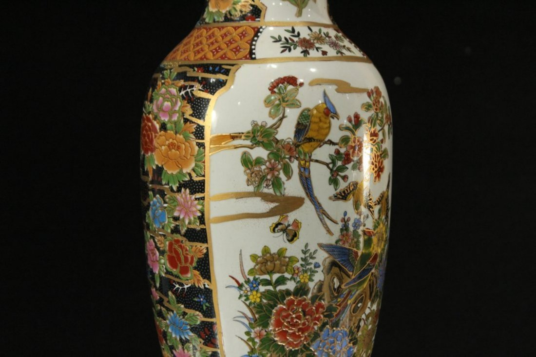 Chinese Porcelain Temple Vase with Scenic Panels - 3