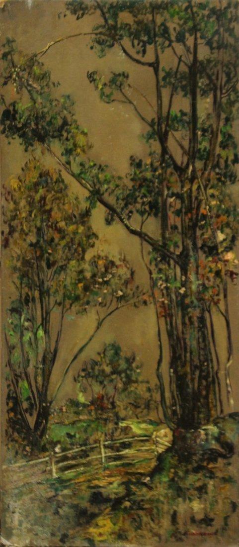 CIANERONE, Circa 1930 Oil/b LANDSCAPE WITH TREES