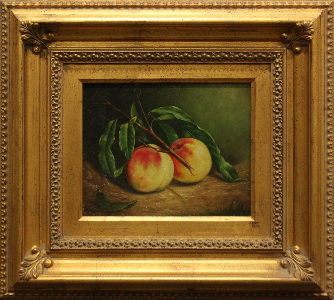 Quality 20th C. OIL/b STILL LIFE FRUIT Signed