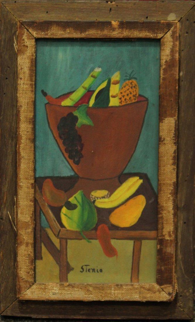 STENIA Polish Artist MID CENTURY STILL LIFE BOWL FRUIT