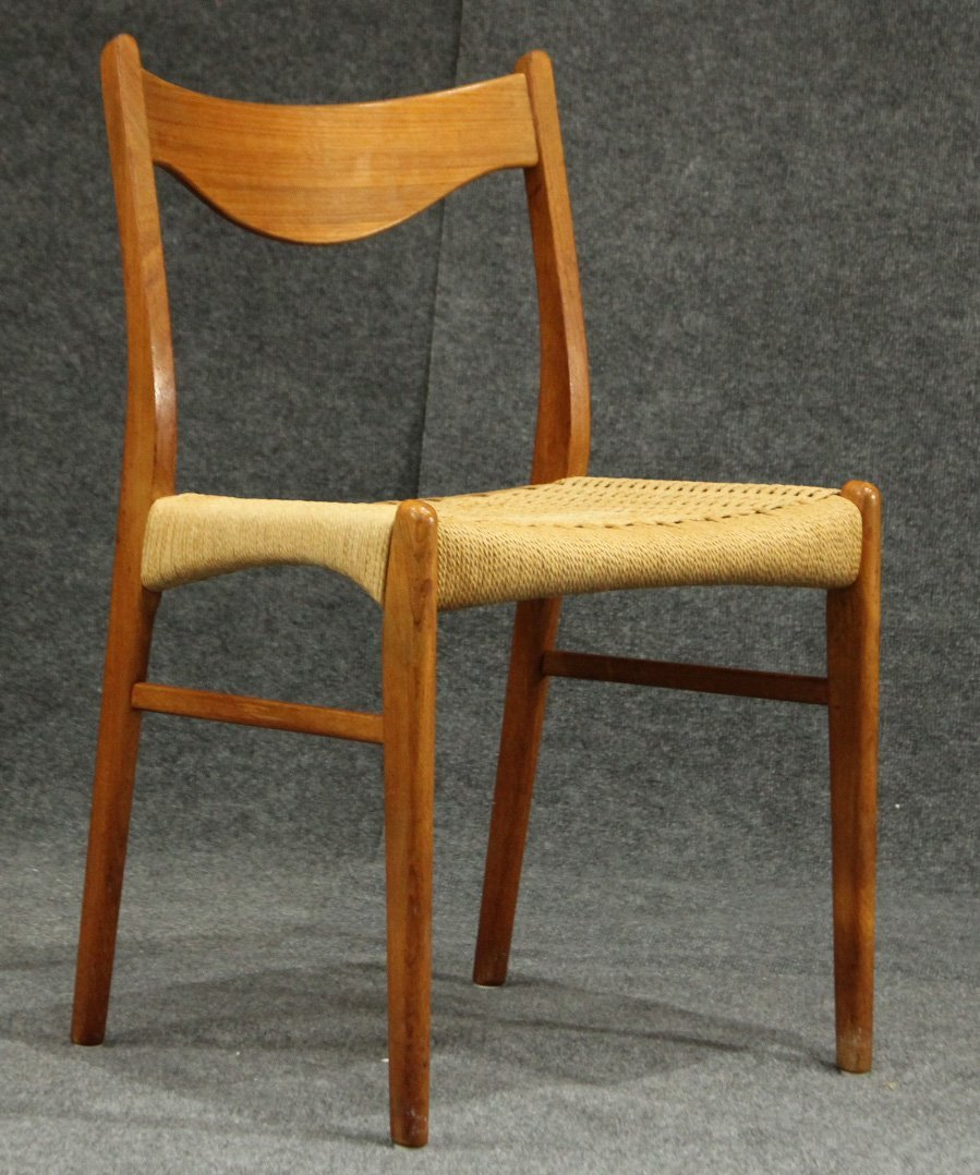 HANS WEGNER [attributed] Danish Modern Reed Seat Chair