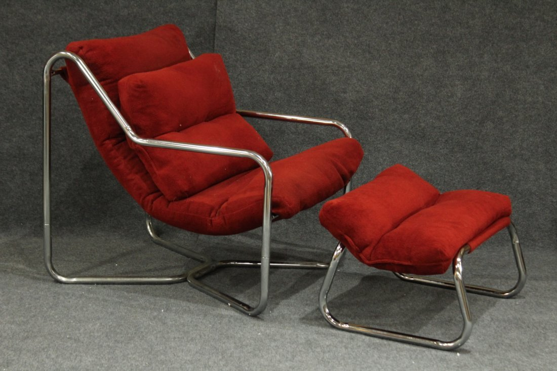 Erik Jorgensen attributed Tubular Chrome Lounge Chair