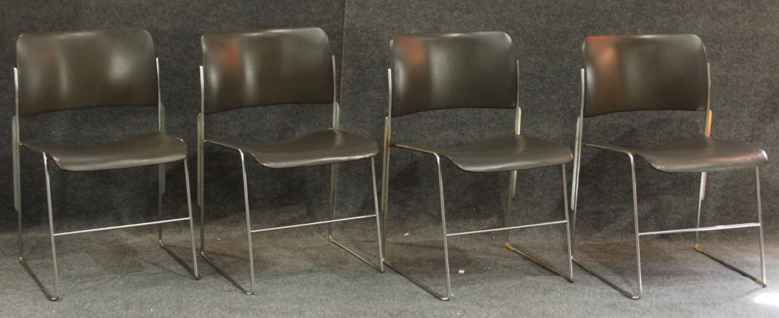 DAVID ROWLAND Designer 40/4 Set 4 MID CENTURY CHAIRS