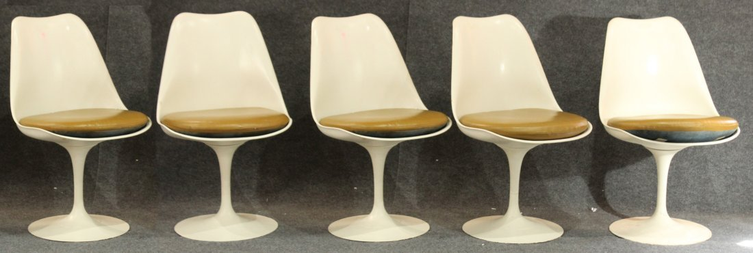 KNOLL INDUSTRIES For SAARINEN 5 ARMLESS TULIP CHAIRS