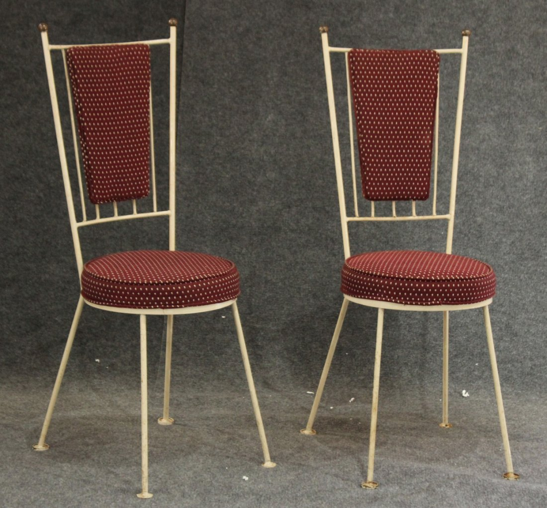 Pair PAUL McCOBB Style MID CENTURY HIGH BACK CHAIRS
