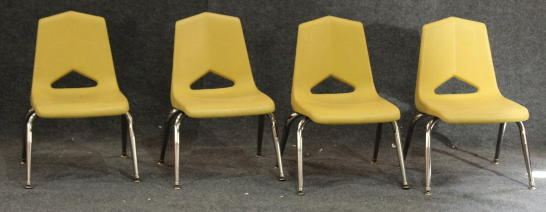 ROYAL SEATING Set of 4 CHILD MID CENTURY MODERN CHAIRS