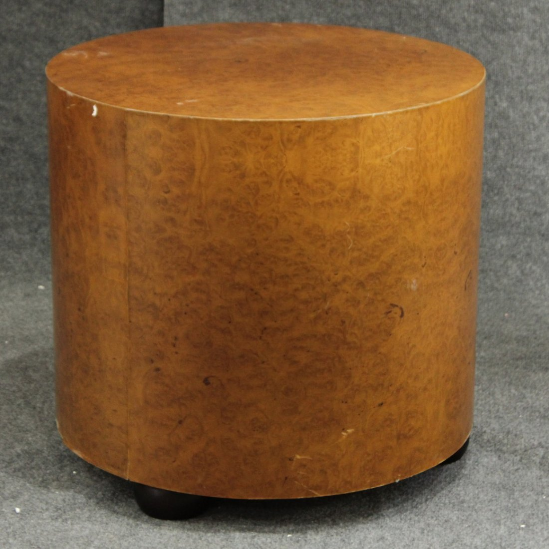 MILO BAUGHMAN attributed BURL WOOD ROUND STAND