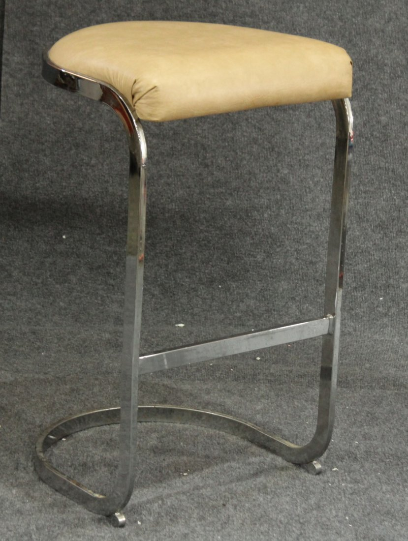 MILO BAUGHMAN Flat Bar Chrome BAR STOOL