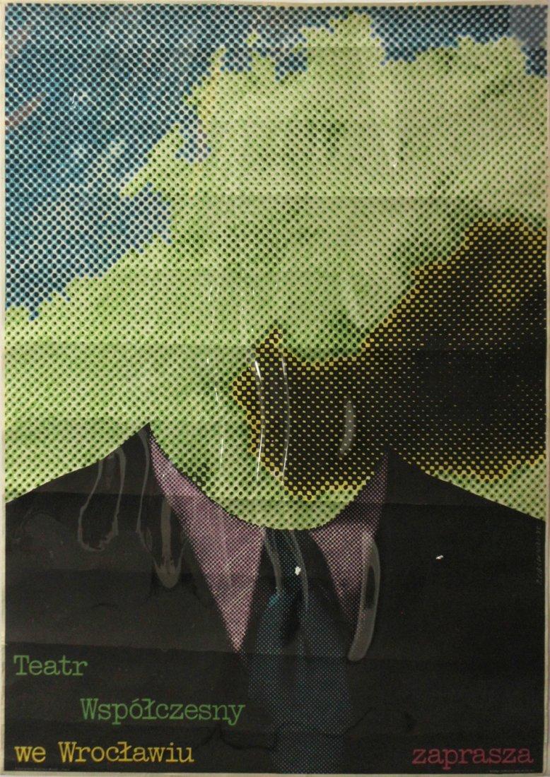 TEATR WSPOLCZESNY Poster ZAPRASZA, R CIESLEWICZ 1975