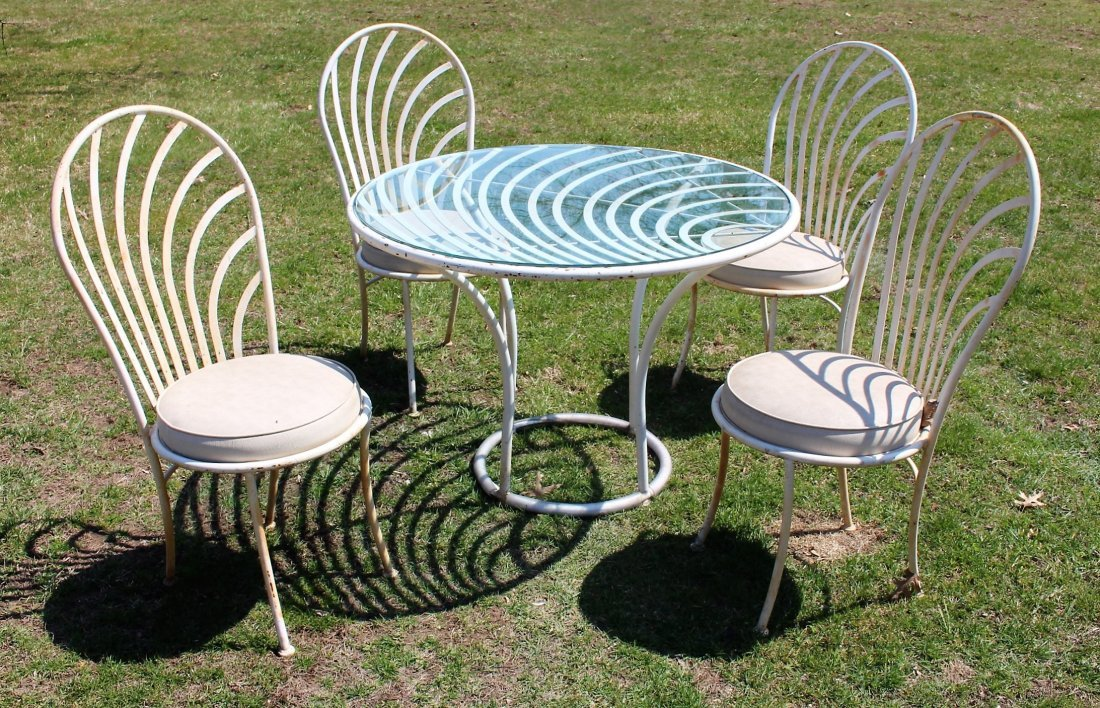 ARTHUR UMANOFF -Mid Century CAFE TABLE AND CHAIRS SET
