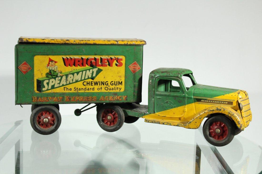 Antique PRESSED STEEL TRUCK - WRIGLEYS SPEARMINT GUM