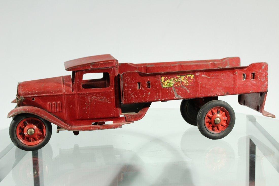 Antique PRESSED STEEL RED BUDDY L TRUCK